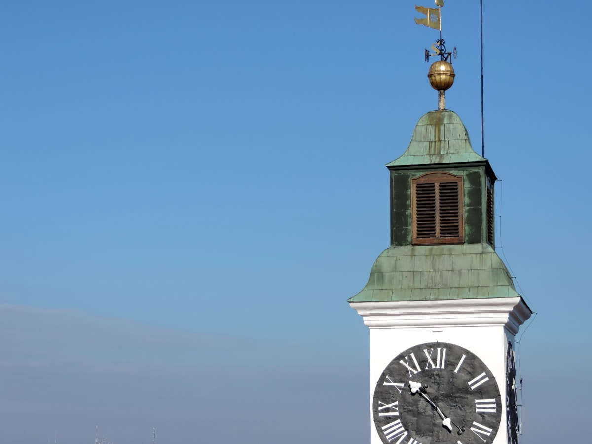 point de repère, Serbie, architecture, tour, Création de, couvrant, à l'extérieur, horloge