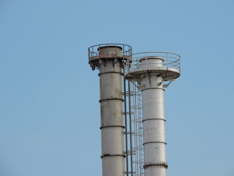 chimney, tower, water tower, industry, pipe, technology, pollution, power