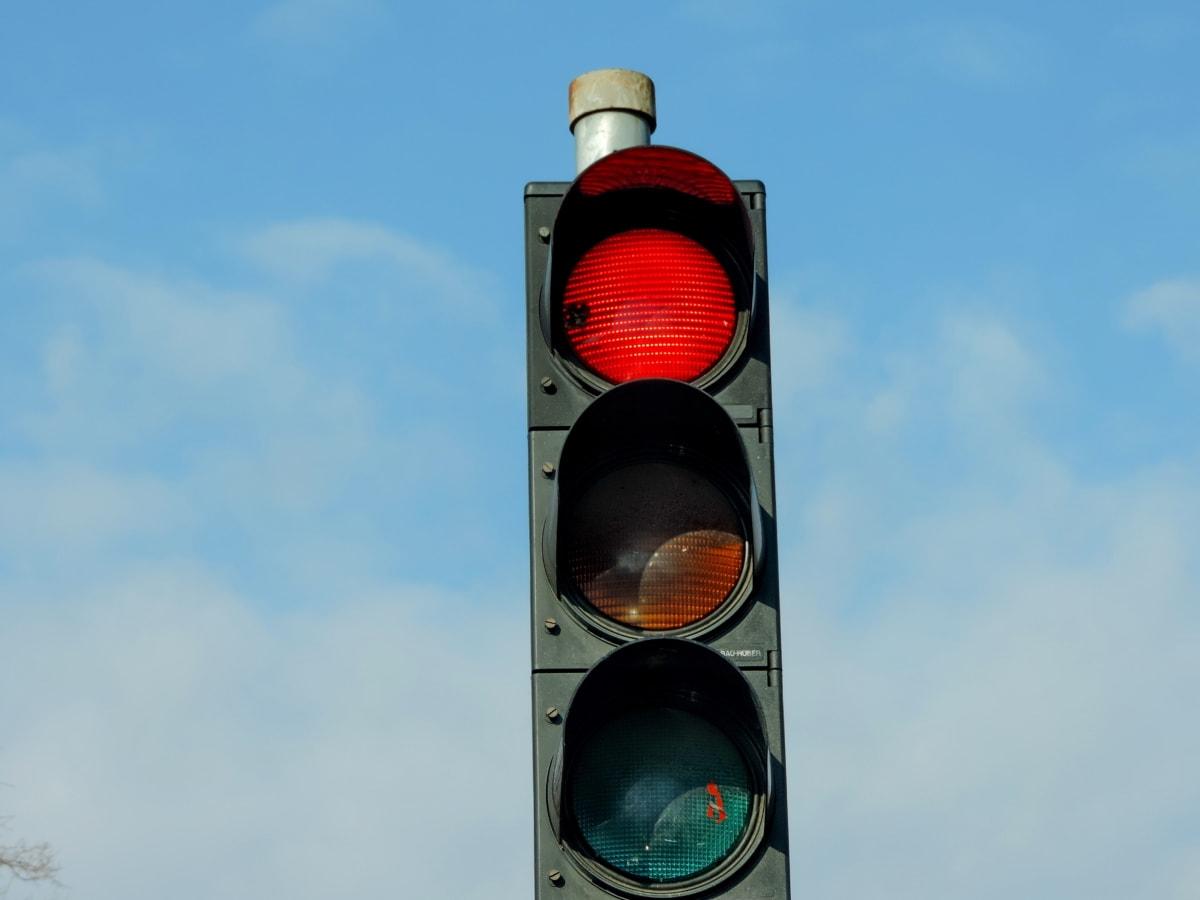 свет, красный, семафор, пересечение, трафик, предупреждение, безопасность, управления