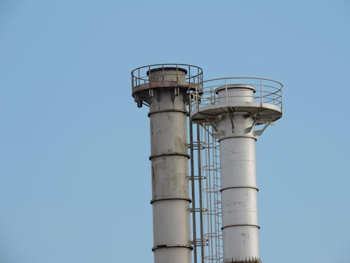 промишленост, водна кула, технология, тръба, замърсяване, мощност, кула, производство