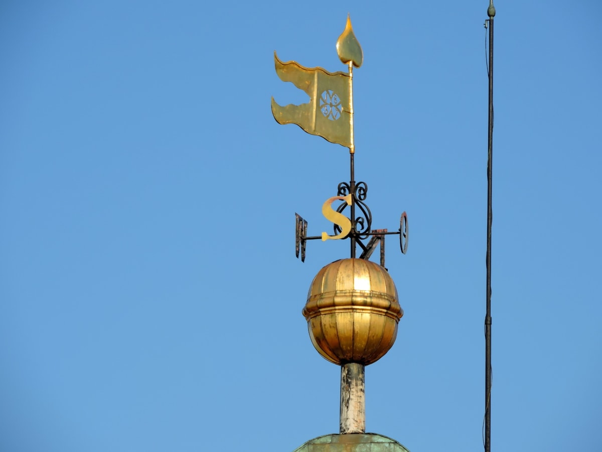 устройство, архитектура, стабилизатор, на открито, дневна светлина, синьо небе, кула, стар