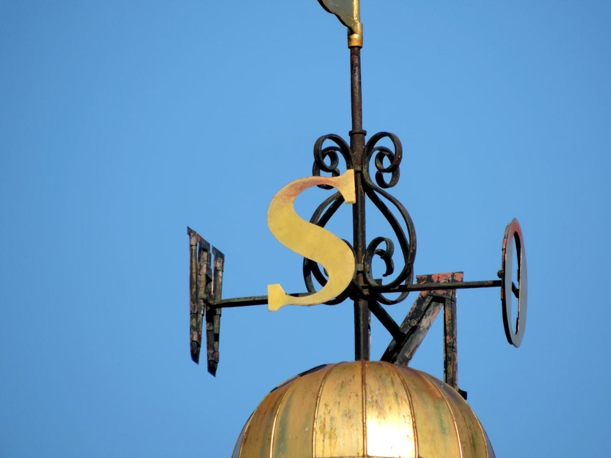 Süden, Südseite, Südosten, Stabilisator, Erstellen von, Architektur, im freien, blauer Himmel