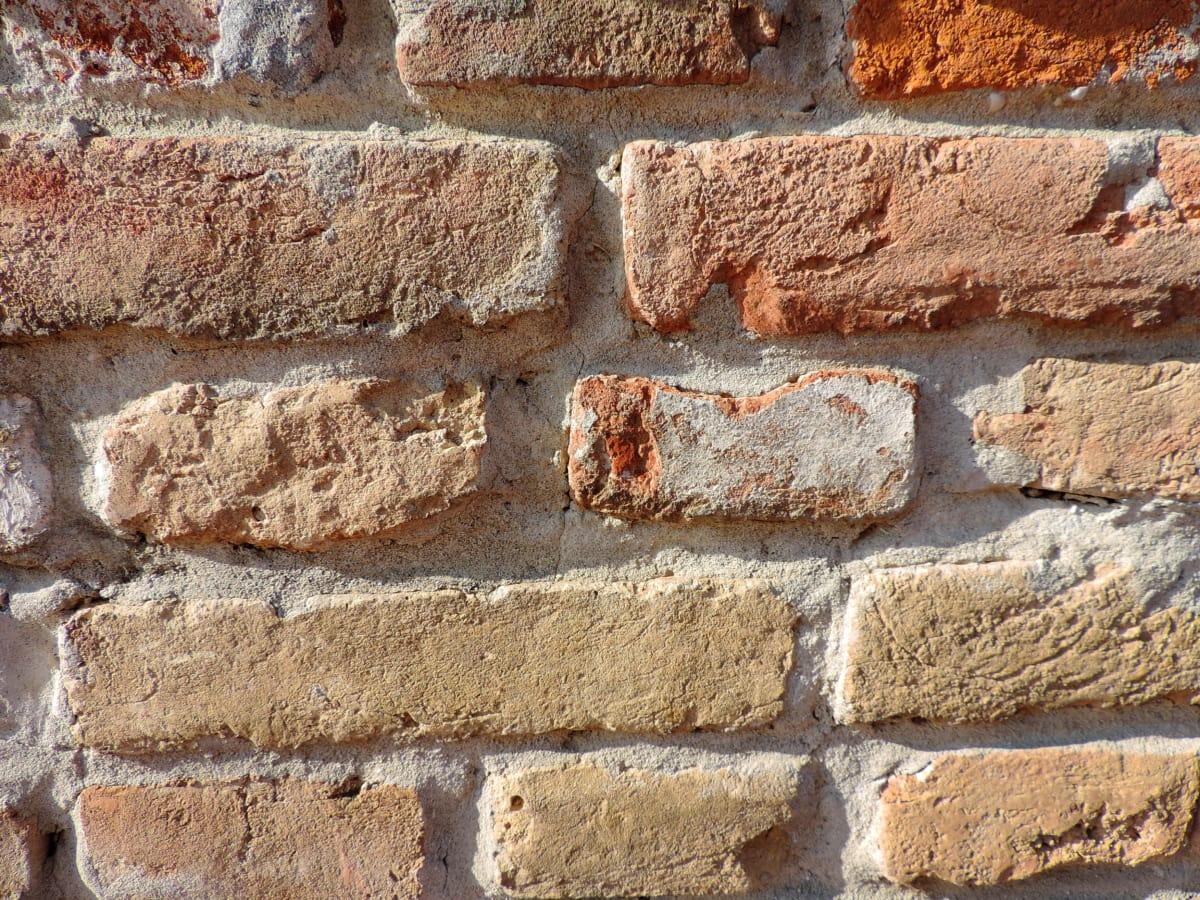 hrubý, Tehla, vzor, Nástenné, cement, betón, staré, textúra