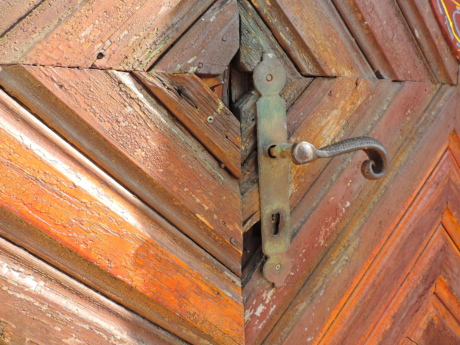 cast iron, decoration, front door, handmade, hardwood, lock, wooden, door