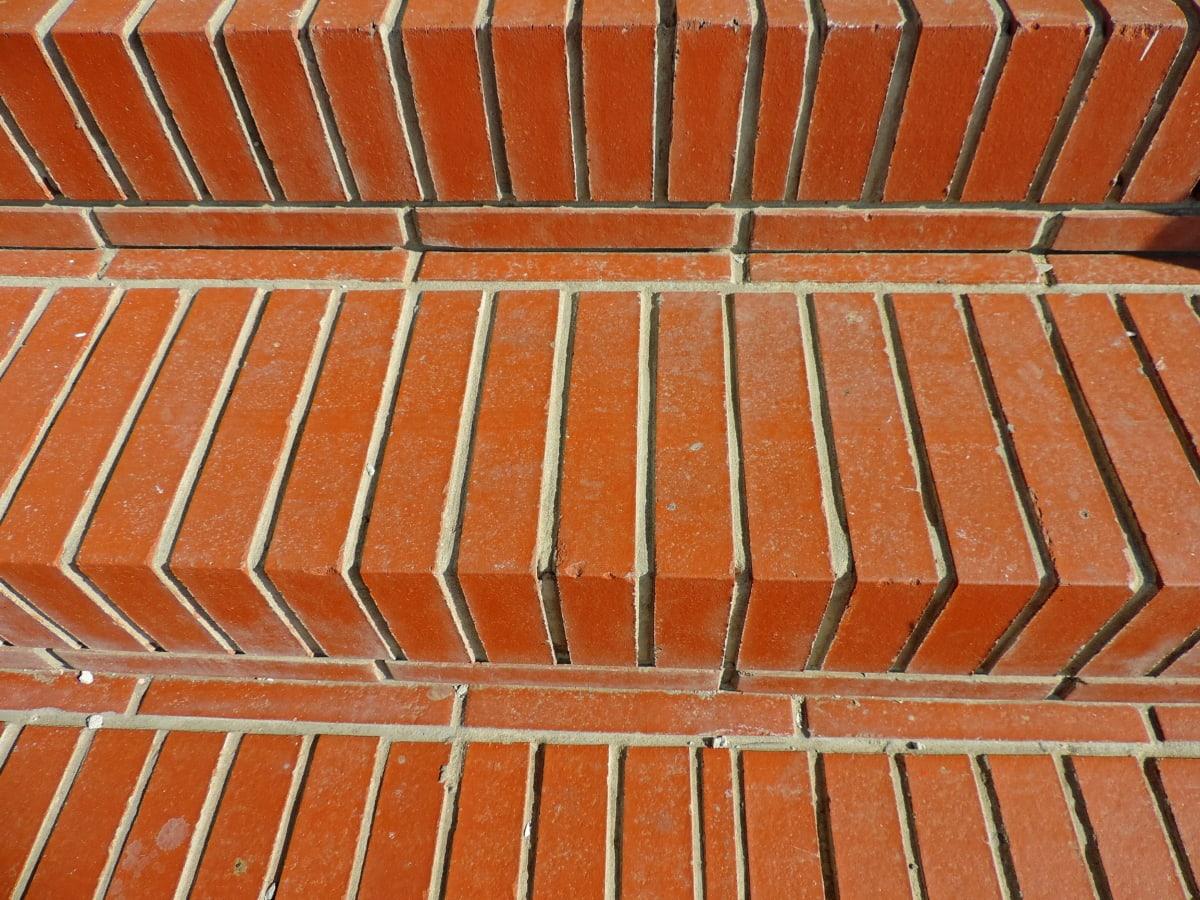 stepenice, stubište, površina, uzorak, zid, cigla, tekstura, stari