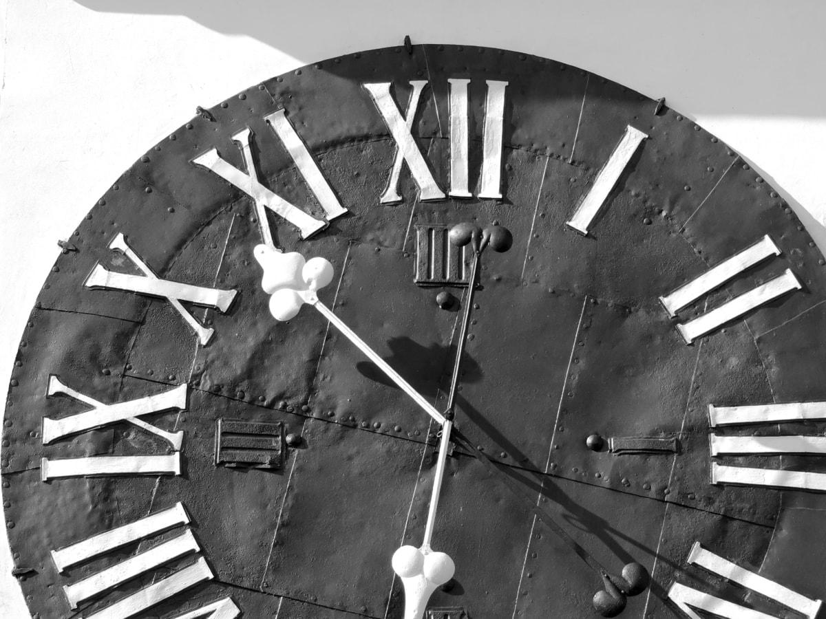 시계, 흑백, 레트로, 오래 된, 스틸, 빈티지, 휠, 그룹