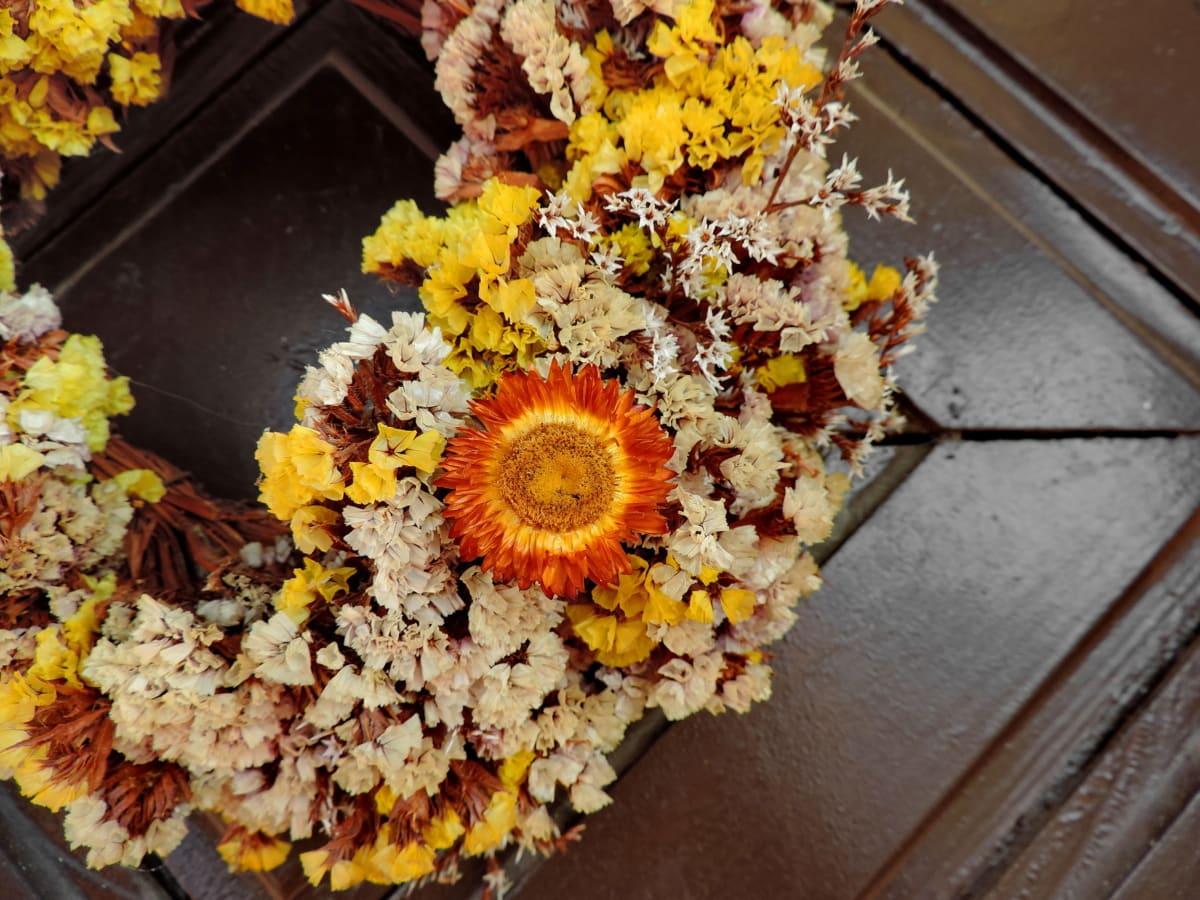 ξηρά, μπουκέτο, λουλούδι, λουλούδια, φυτό, τροφίμων, φύλλο, διακόσμηση