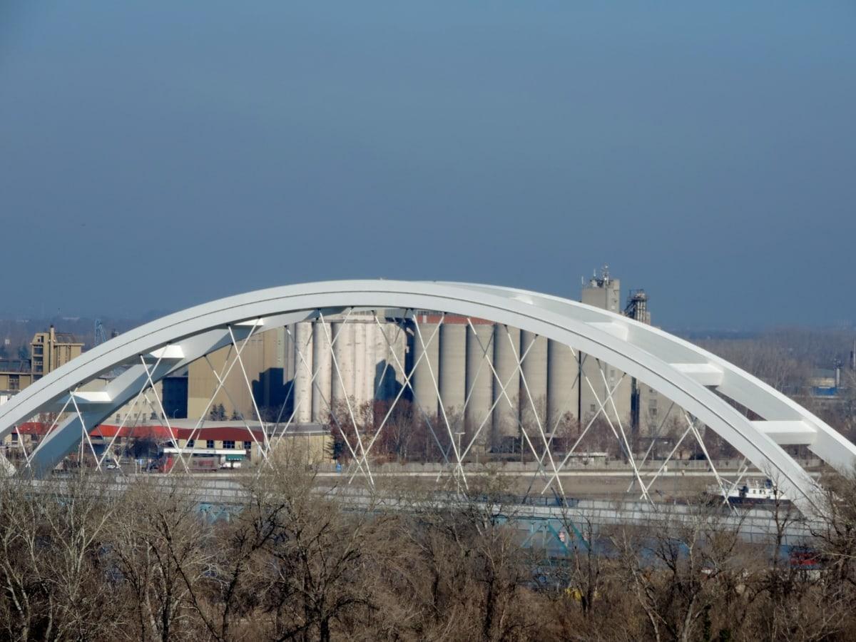 bruden, struktur, bro, arkitektur, udendørs, vand, bygning, city