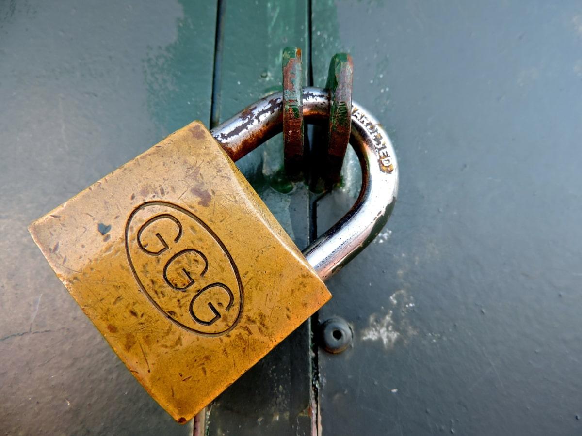 hengelås, Lås, enheten, Lås, sikkerhet, sikkerhet, stål, jern