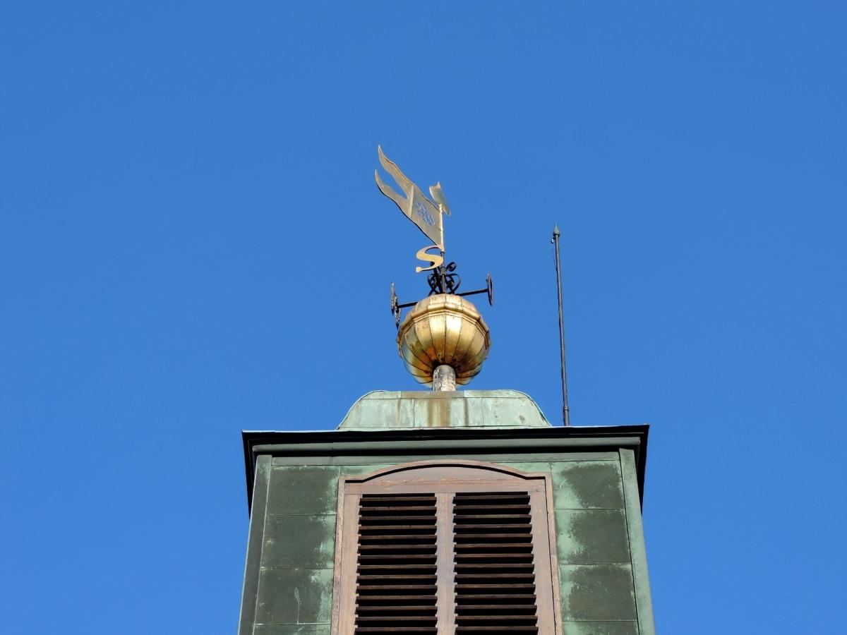 웨스트, 웨스트 사이드, 서쪽 바람, 안정제, 아키텍처, 장치, 야외에서, 푸른 하늘