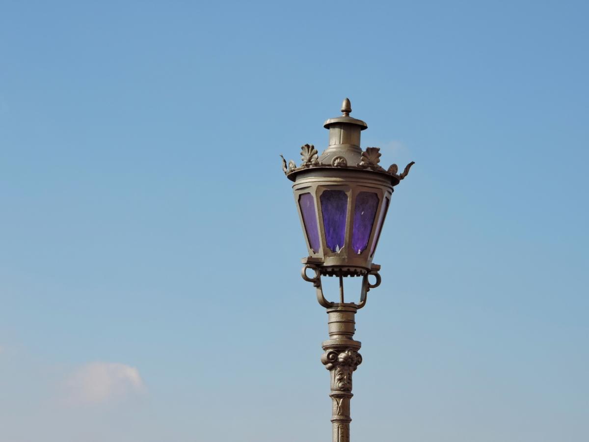 tour, architecture, à l'extérieur, lampe, lanterne, vieux, ciel bleu, classique