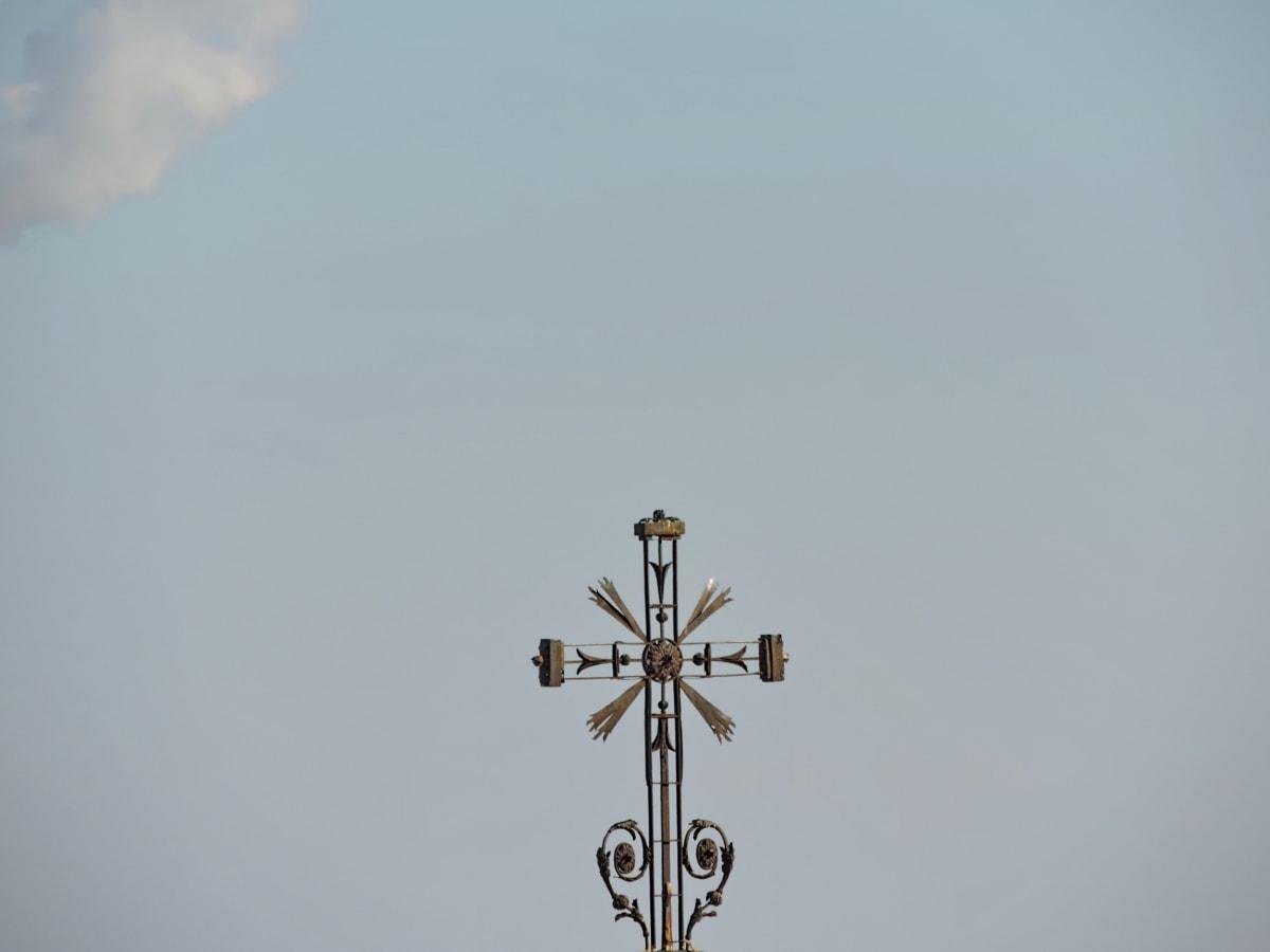 кръст, стабилизатор, на открито, дневна светлина, военни, полет, вятър, въздух