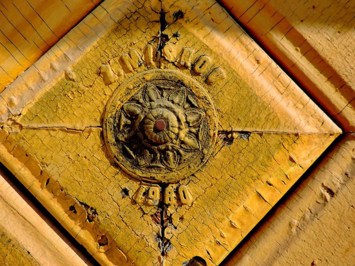antique, baroque, porte d'entrée, vieux, Vintage, conception, architecture, décoration