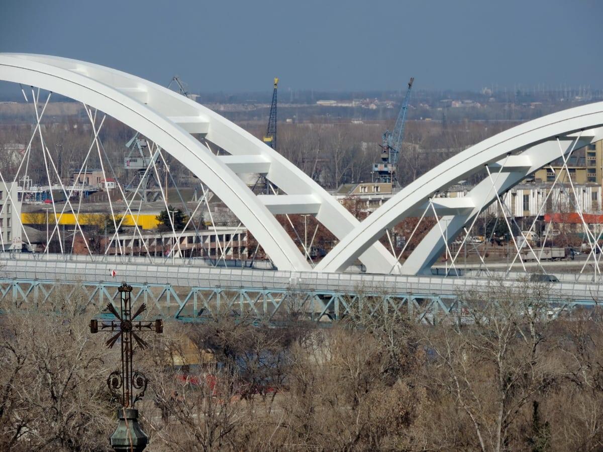 река, мост, структура, вода, архитектура, на открито, град, сграда