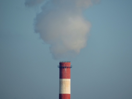 factory, tower, smoke, heat, chimney, pollution, outdoors, daylight