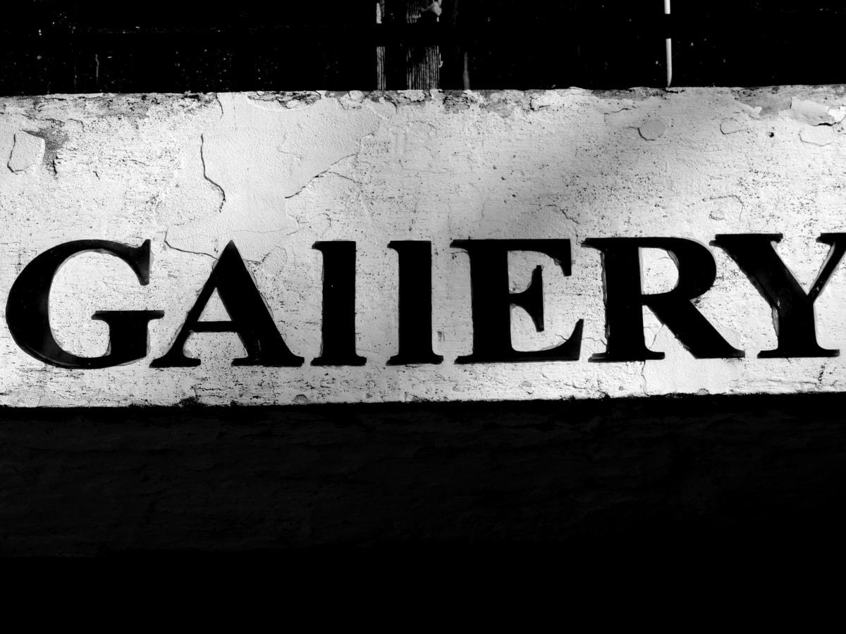 Galerija, tekst, posao, Upozorenje, znak, obrazovanje, retro, informacije
