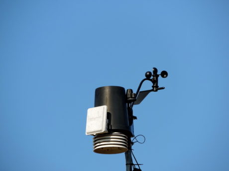 meteorology, outdoors, technology, blue sky, equipment, electricity, architecture, surveillance