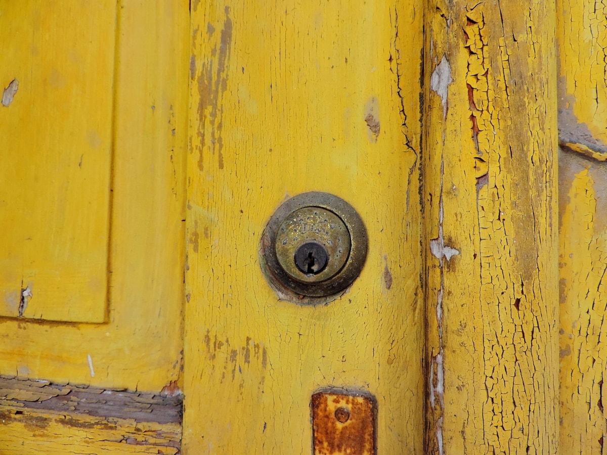 zid, vrata, drveni, zaključavanje, tekstura, drvo, željezo, stari