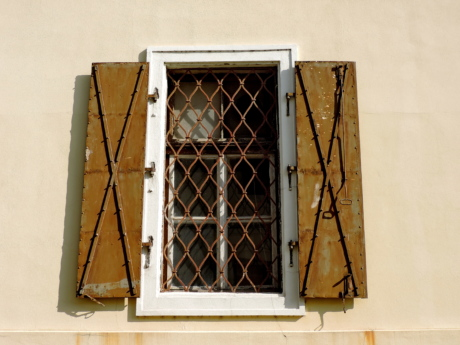 cast iron, window, architecture, old, framework, house, building, wall