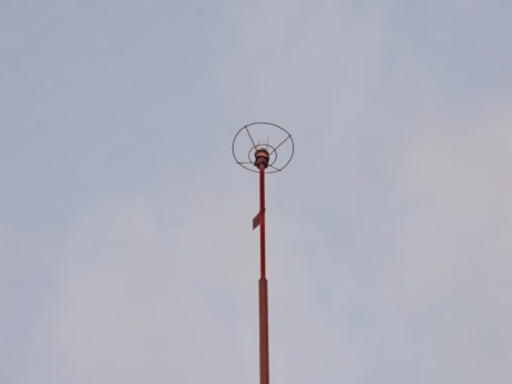 device, high, outdoors, blue sky, electricity, technology, tower, television