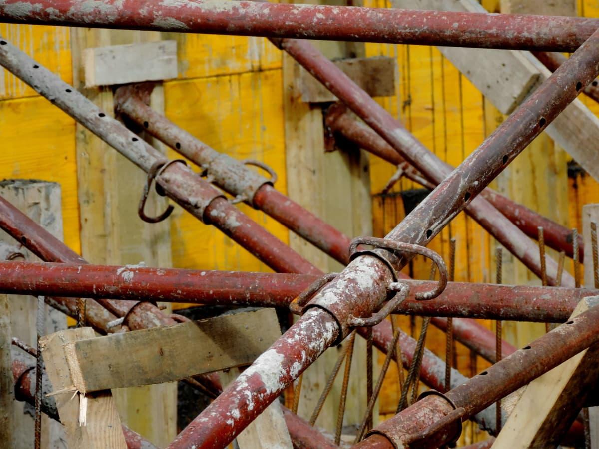 промышленность, цепь, сталь, железо, ржавчина, Старый, строительство, дерево
