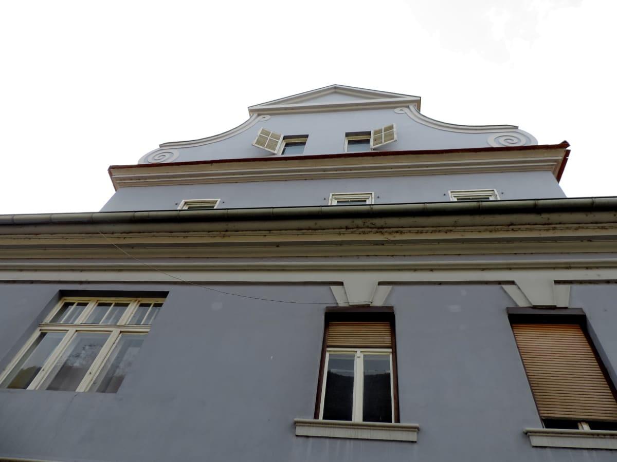 barocco, Casa, facciata, creazione di, architettura, finestra, tetto, tempo libero
