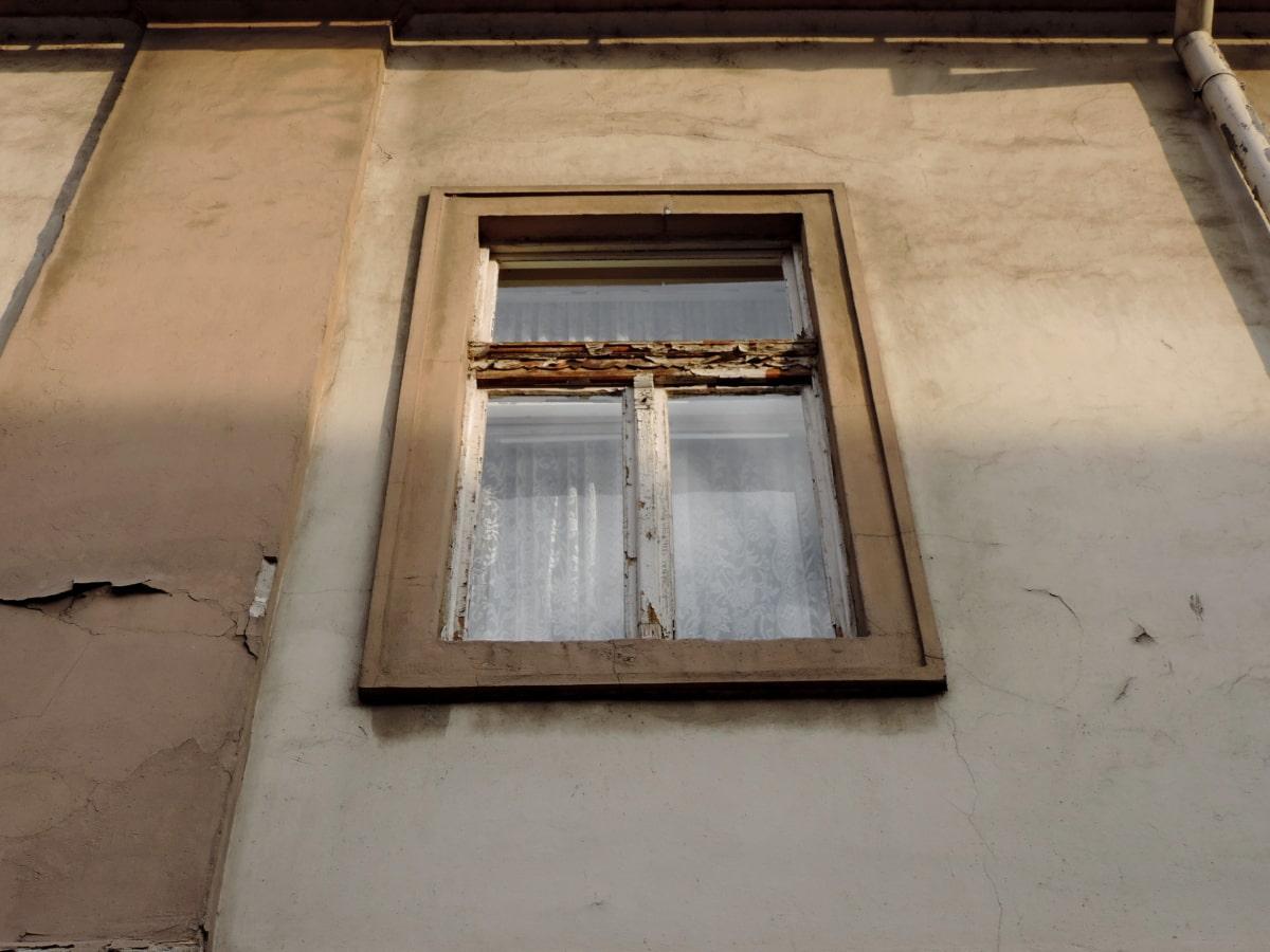стар, Прозорец, архитектура, стена, сграда, къща, изоставени, дървен материал