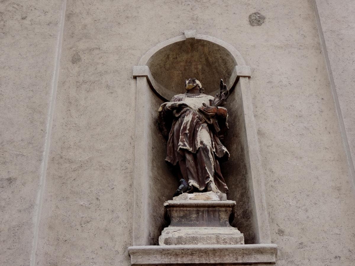 kršćanstvo, skulptura, arhitektura, kamena, postolje, struktura, stupac, kip