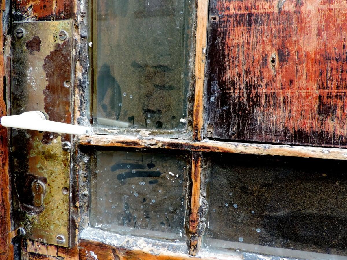 texture, vieux, mur, maison, Porte, abandonné, rouille, fenêtre