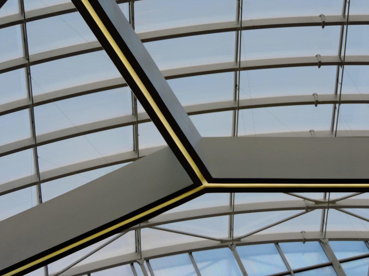 Decke, futuristisch, fenster, Architektur, Erstellen von, zeitgenössisch, Fenster, moderne