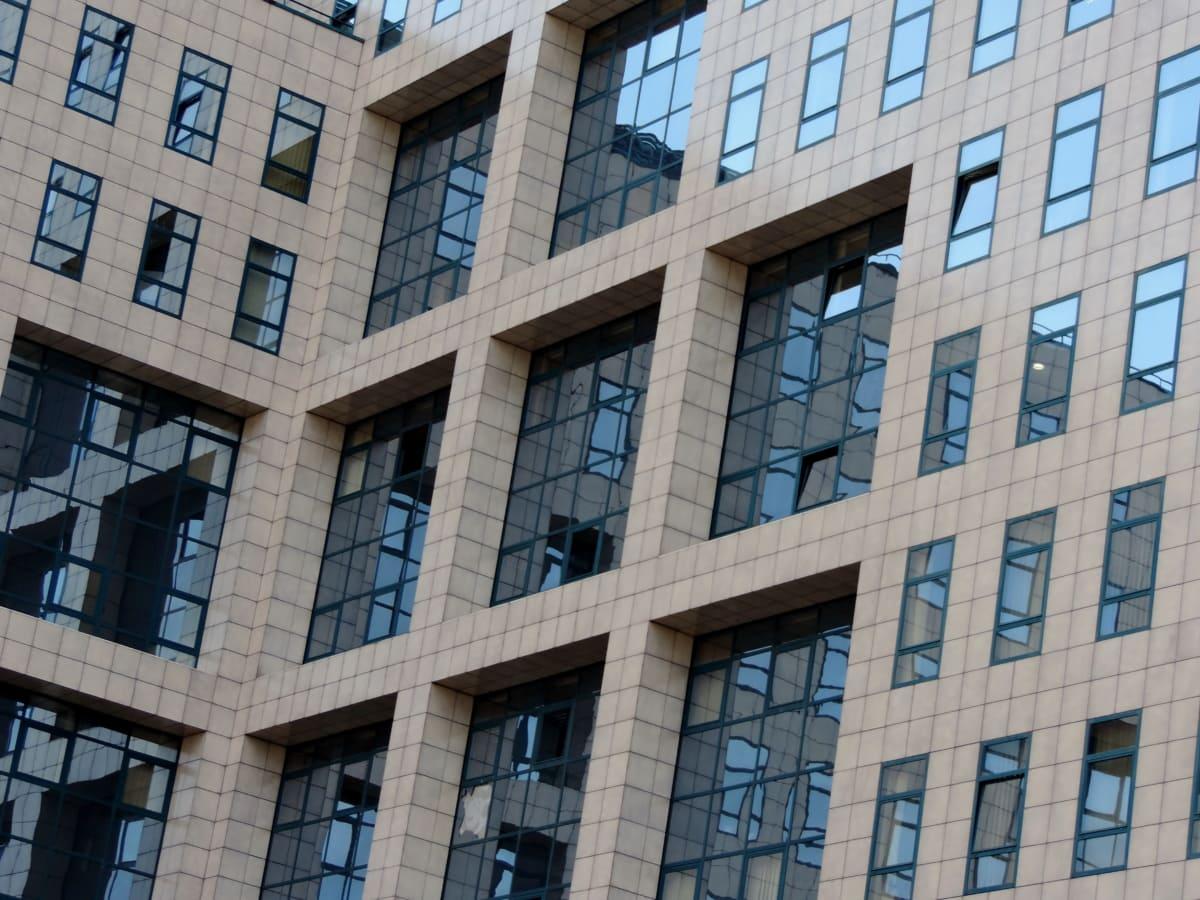 体系结构, 结构, 城市, 构建, 城市, 摩天大楼, 业务, 窗口