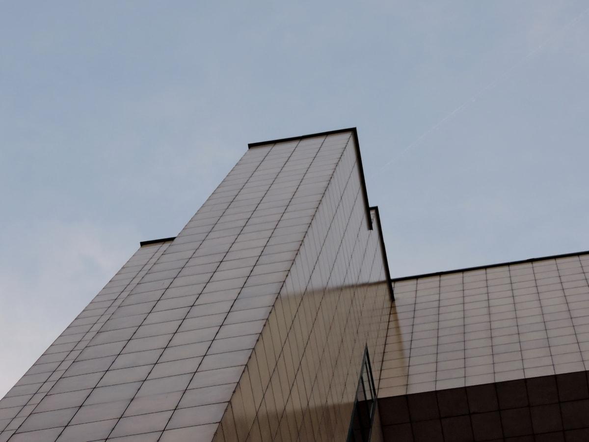 アーキテクチャ, ガラス, モダンです, 市区町村, 事務所, 超高層ビル, 構築, ビジネス