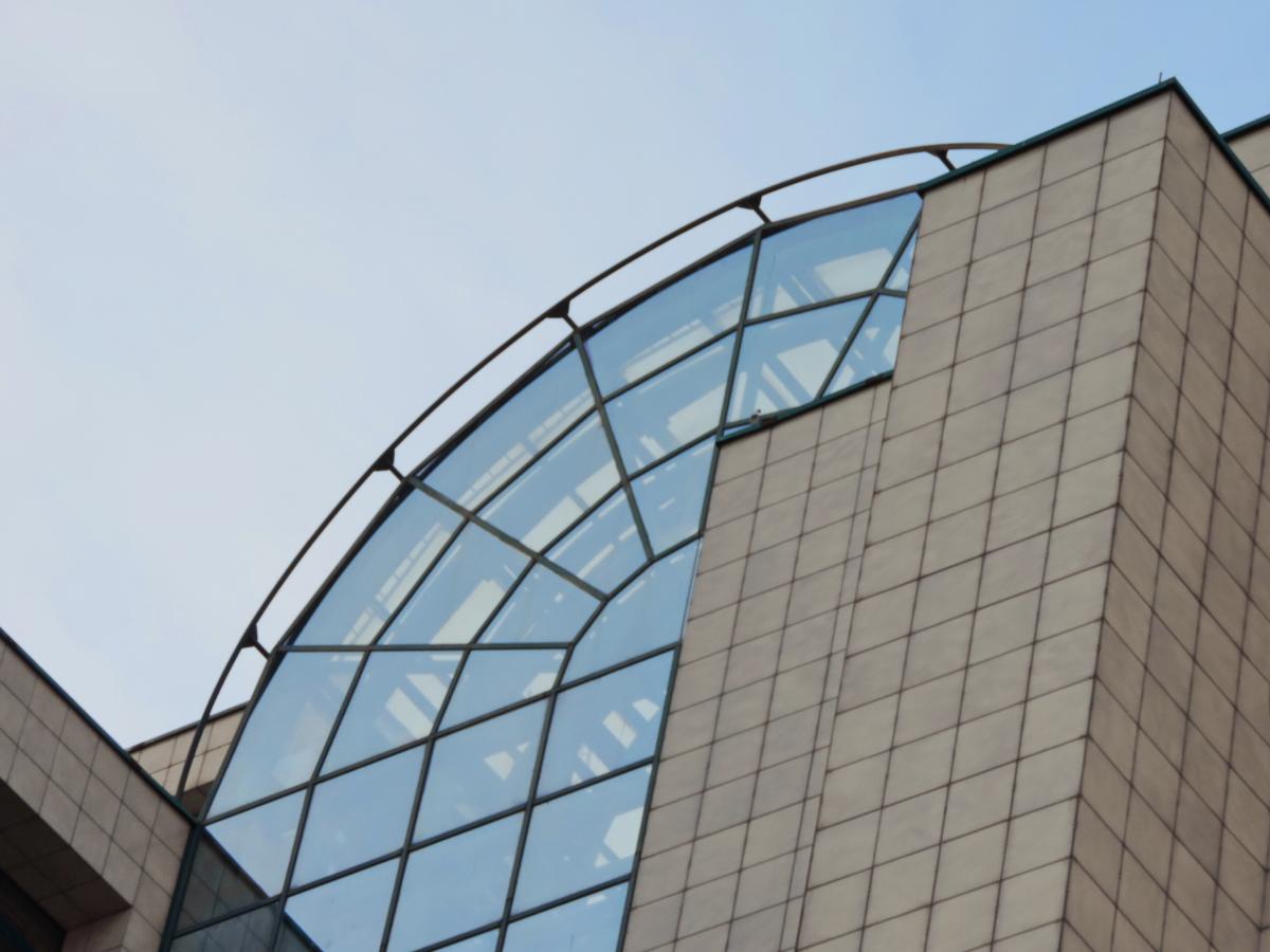 futurystyczny, nowoczesny, budynek, Biuro, szkło, Drapacz chmur, Miasto, architektura