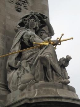 skulptur, staty, monumentet, konst, personer, staden, torget, religion