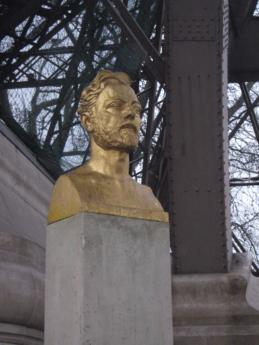 poprsje, Francuska, zlato, kamena, spomen, skulptura, kip, stupac