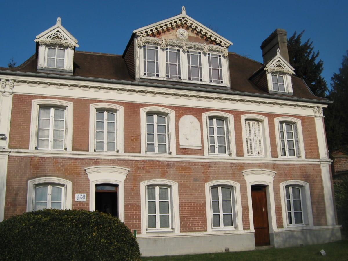 фасад, Франция, Построение, дом, Архитектура, дом, Экстерьер, Крыша