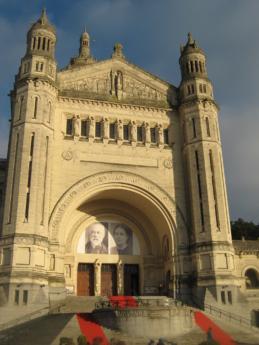 barokki, katedraali, katolinen, kristinusko, julkisivu, Ranska, punainen matto, matkailukohde