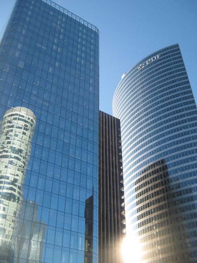 业务, 城市, 体系结构, 摩天大楼, 构建, 市中心, 办公室, 塔