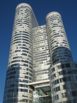 в центъра, сграда, офис, архитектура, кула, небостъргач, град, бизнес
