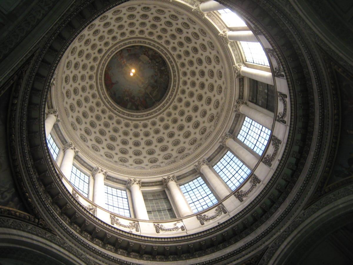 architecturale stijl, kunst, Frankrijk, dak, plafond, koepel, het platform, bekleding