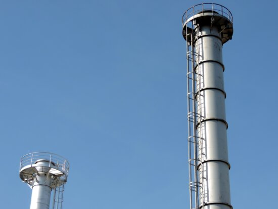 chimney, factory, gas well, refinery, technology, tower, industry, pipe