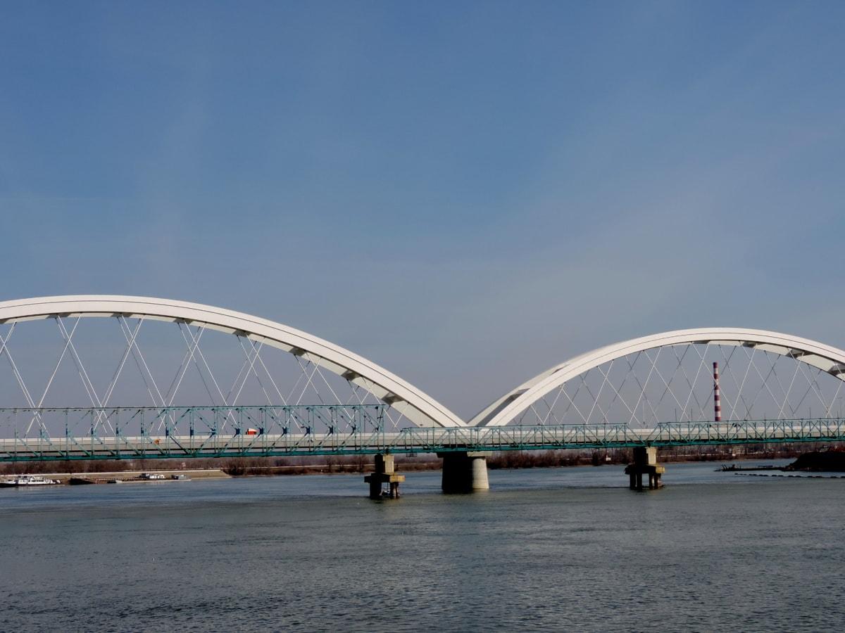 architektura, město, řeka, struktura, Most, voda, venku, městský