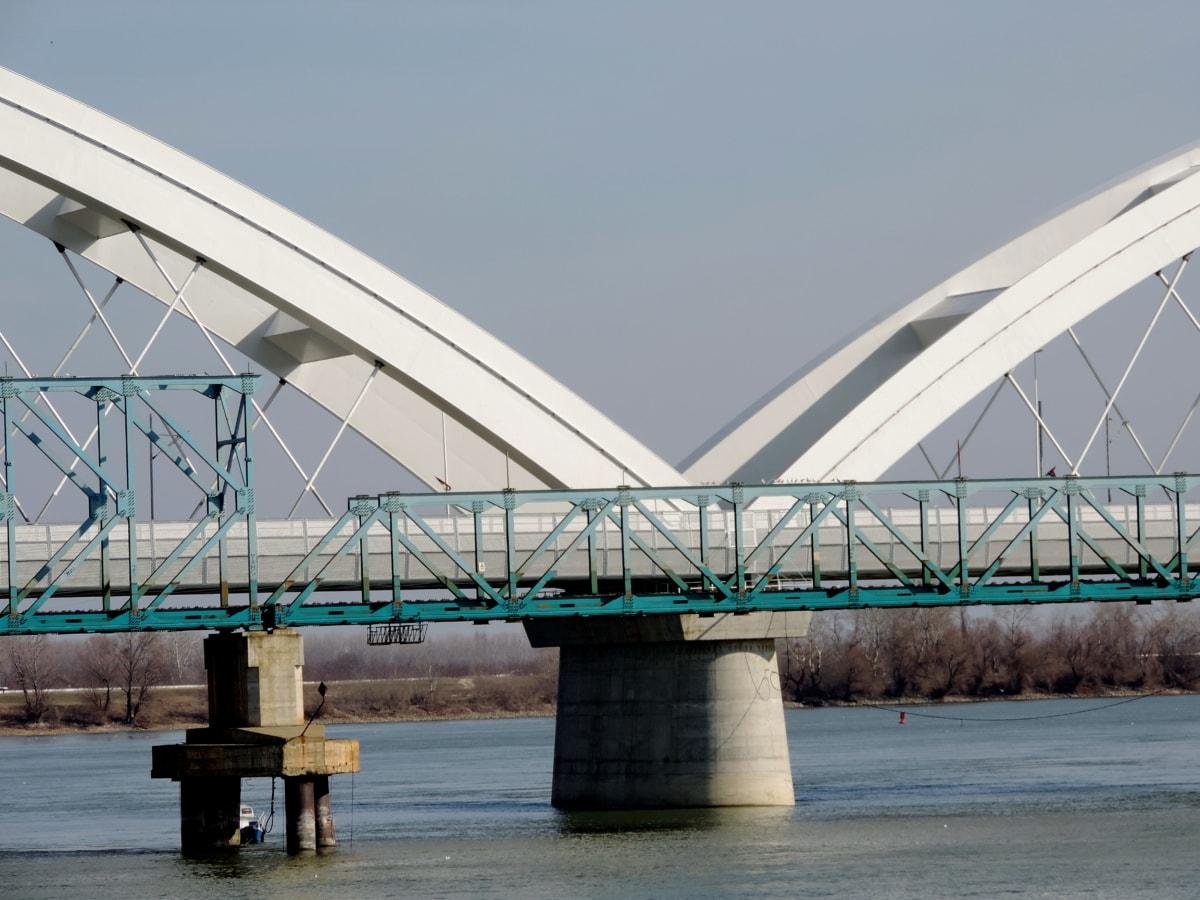 Бедрок, чугун, мост, вода, архитектура, модерни, река, строителство