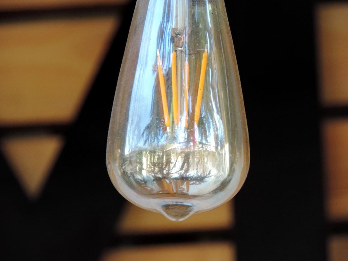 หลอดไฟ, แก้ว, แสง, ไฟฟ้า, สีเข้ม, สดใส, ในที่ร่ม, พลังงาน