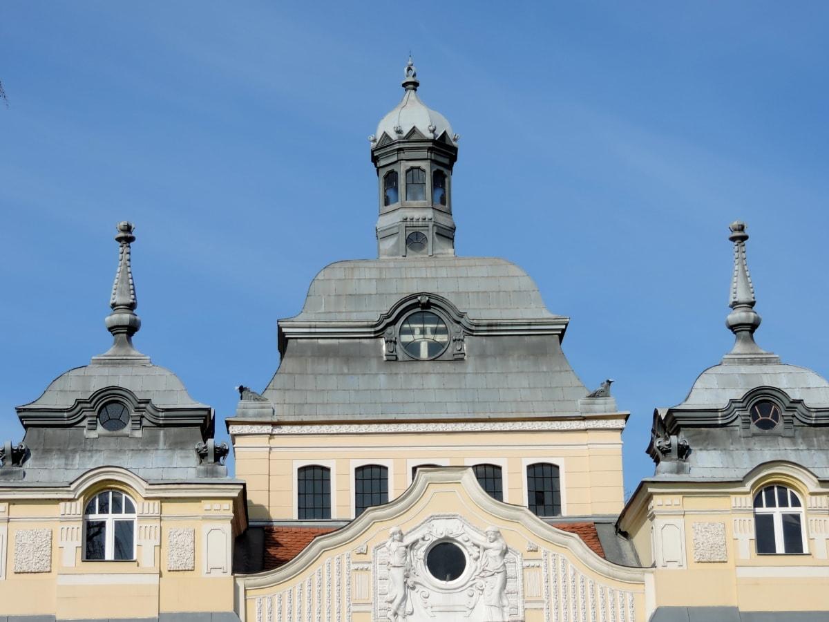 zgrada, kupola, arhitektura, rezidencija, stari, drevno, tradicionalno, barok