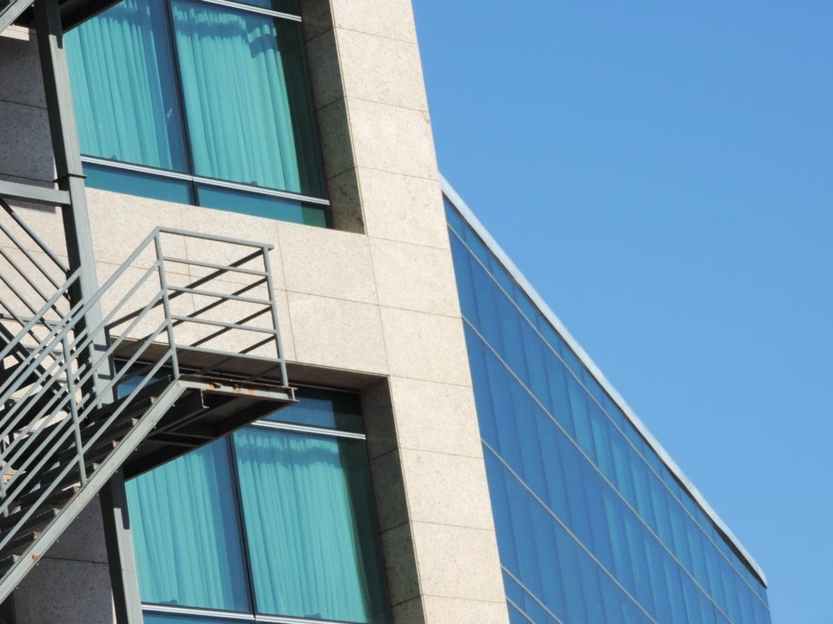 mesto, moderné, Architektúra, kancelária, budova, okno, moderné, reflexie