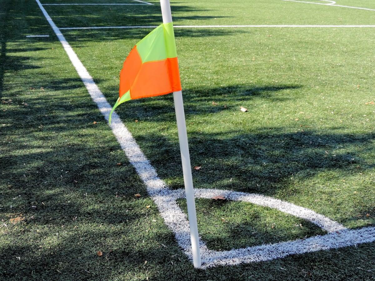 fotboll, idrott, gräs, boll, spel, konkurrens, Lekplats, gräsmatta