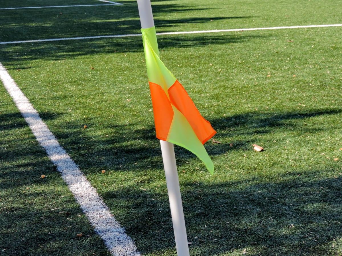 игрок футбола, флаг, трава, курс, Спорт, отверстие, Конкурс, на открытом воздухе
