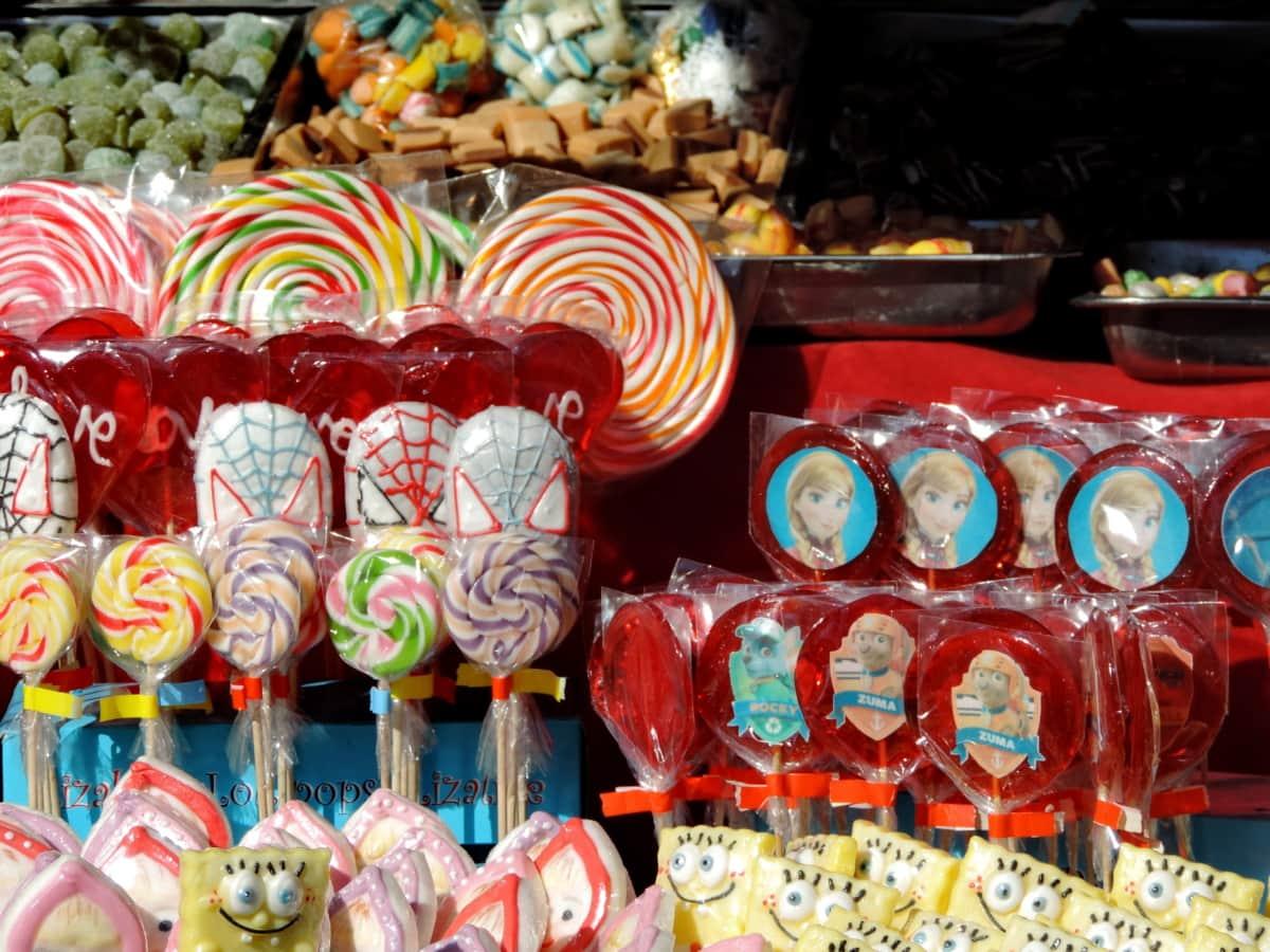 bazar, bombon, šarene, slastičarnica, trgovina, tržište, dekoracija, tradicionalno