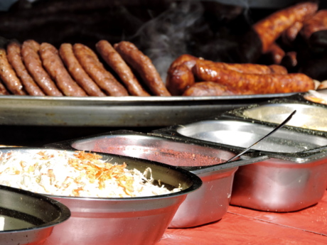 barbecue, fast food, sausage, food, pan, cooking, hot, meal